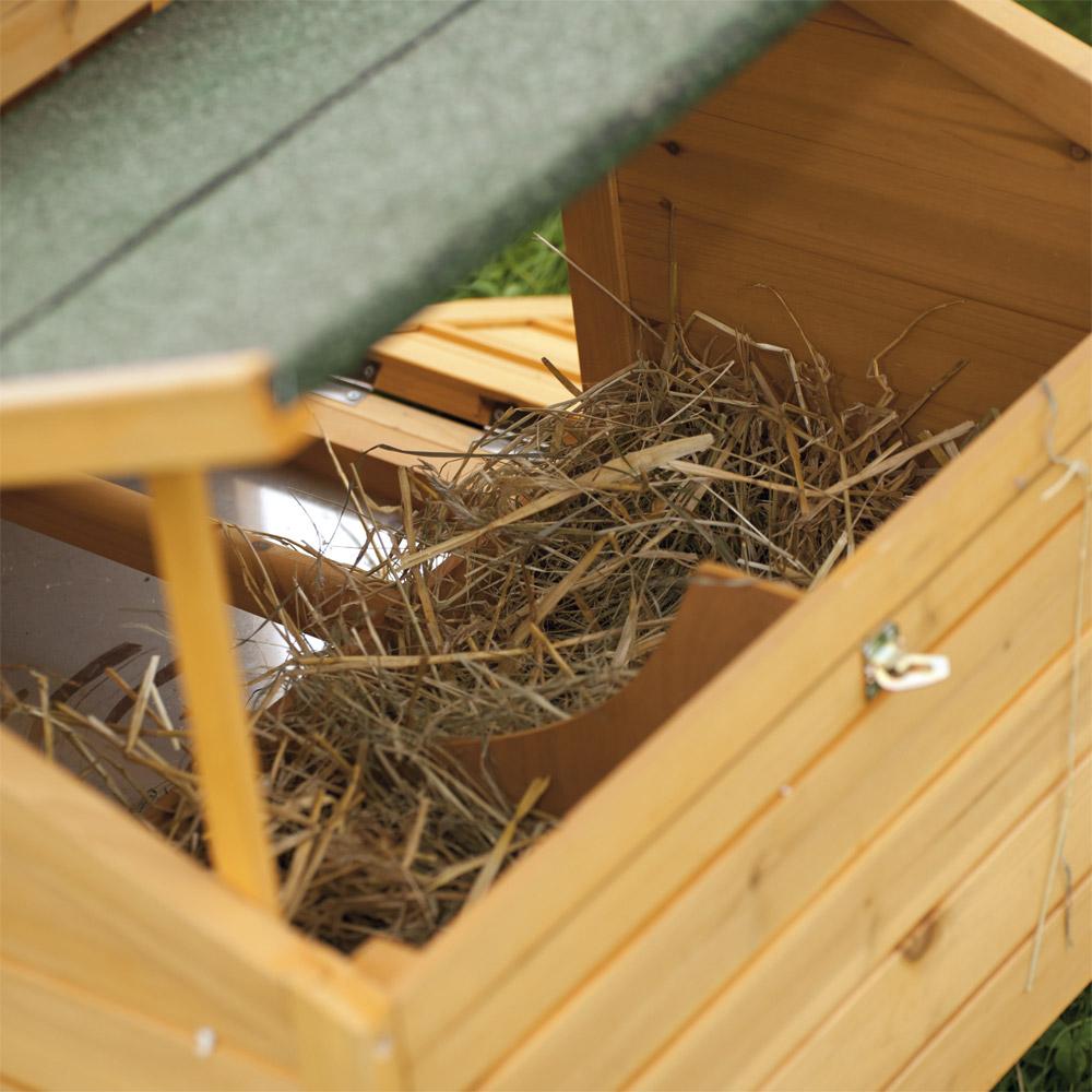 Basse cour vive l 39 levage poulailler confort en bois de for Vive l elevage poulailler