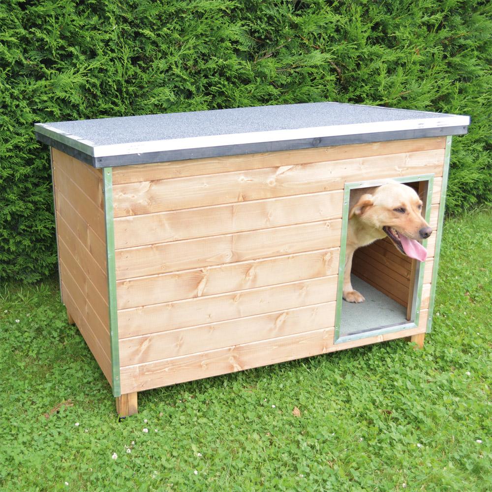 vive l 39 levage niche en bois pour chien chien. Black Bedroom Furniture Sets. Home Design Ideas