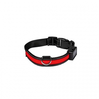Collier lumineux USB rechargeable rouge S