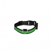 Collier pour chien lumineux Eyenimal® USB rechargeable vert