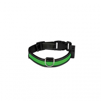 Collier lumineux USB rechargeable vert S