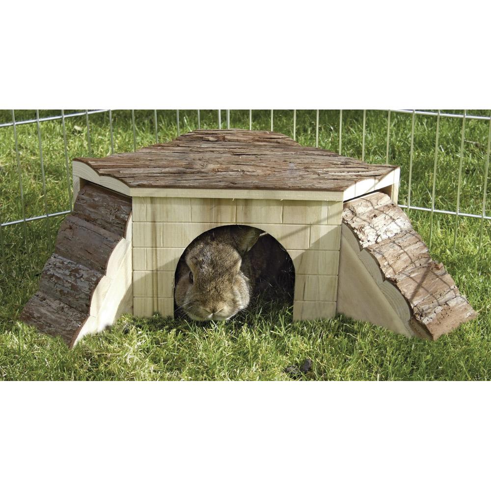 N a c vive l 39 levage abri pour rongeurs avec rampe for Abri lapin exterieur